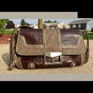 M.C Design Textured Snakeskin/Crocodile Leather Bg